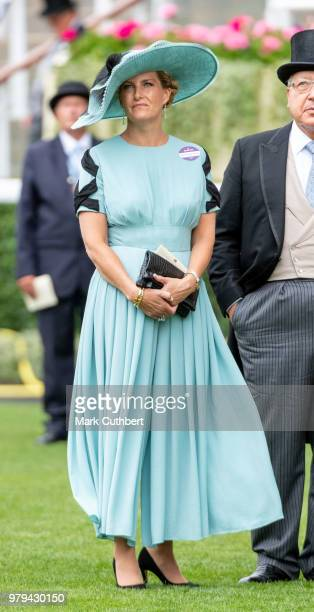 Sophie Countess of Wessex attends Royal Ascot Day 2 at Ascot Racecourse on June 20 2018 in Ascot United Kingdom
