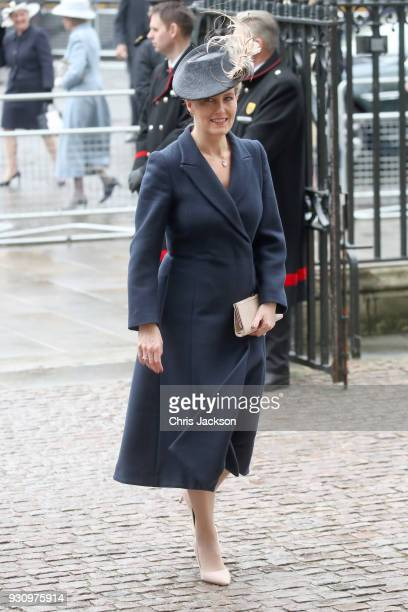 Sophie Countess of Wessex attends the 2018 Commonwealth Day service at Westminster Abbey on March 12 2018 in London England