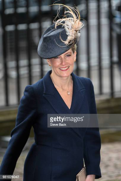 Sophie Countess of Wessex attends the 2018 Commonwealth Day service at Westminster Abbeyon March 12 2018 in London England