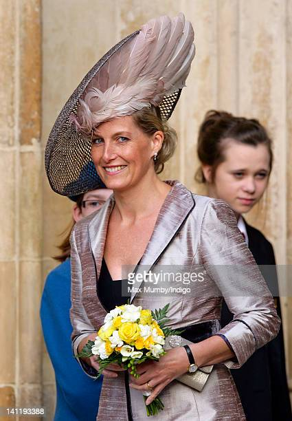 Sophie Countess of Wessex attends the annual Commonwealth Day Observance Service at Westminster Abbey on March 12 2012 in London England