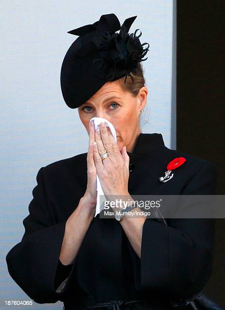 Sophie Countess of Wessex attends the annual Remembrance Sunday Service at the Cenotaph on November 10 2013 in London United Kingdom People across...