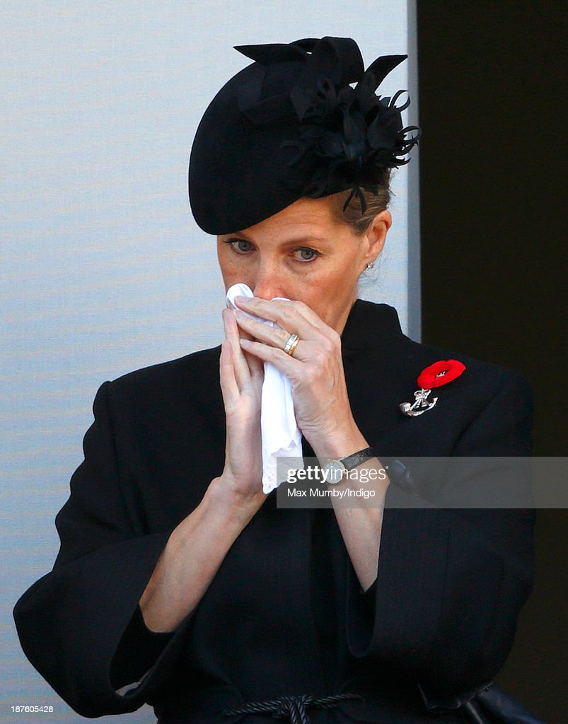 Sophie, Countess of Wessex attends the annual Remembrance Sunday Service at the Cenotaph on November 10, 2013 in London, United Kingdom. People across the UK gathered to pay tribute to service personnel who have died in the two World Wars and subsequent conflicts, as part of the annual Remembrance Sunday ceremonies.