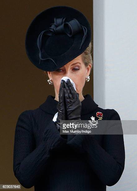 Sophie Countess of Wessex attends the annual Remembrance Sunday Service at the Cenotaph on Whitehall on November 13 2016 in London England The Queen...