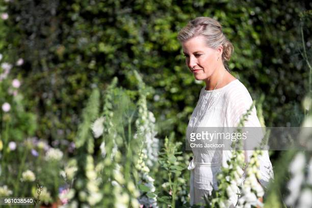 Sophie Countess of Wessex attends the Chelsea Flower Show 2018 on May 21 2018 in London England