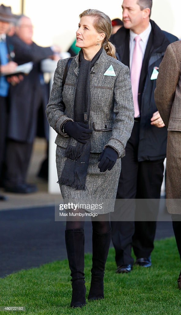 Sophie, Countess of Wessex attends the Christmas Meeting at Ascot Racecourse on December 20, 2014 in Ascot, England.