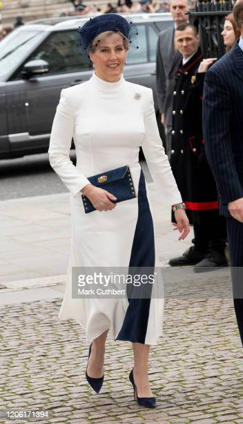 Sophie Countess of Wessex attends the Commonwealth Day Service 2020 at Westminster Abbey on March 9 2020 in London England