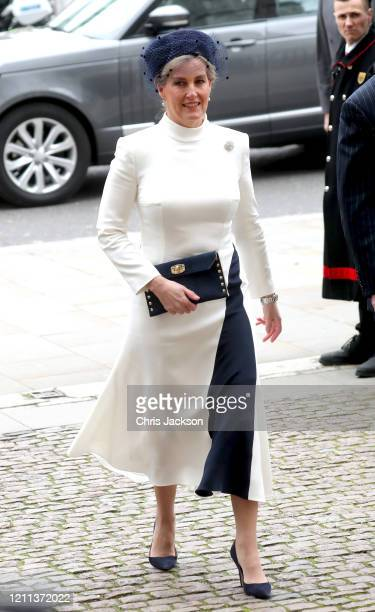 Sophie Countess of Wessex attends the Commonwealth Day Service 2020 at Westminster Abbey on March 09 2020 in London England The Commonwealth...