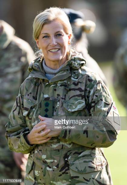 Sophie, Countess of Wessex attends The Countess of Wessex Cup 2019 at St John Moore Barracks on October 22, 2019 in Winchester, England.