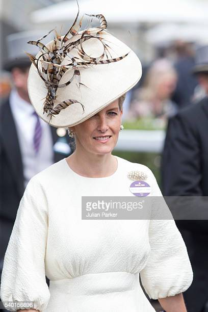 Sophie Countess of Wessex attends the first day of The Royal Ascot race meeting on June 14 2016 in Ascot England