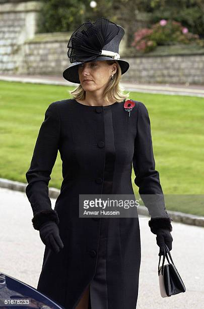 Sophie Countess of Wessex attends the funeral of Princess Alice Duchess of Gloucester at St George's Chapel Windsor Castle on November 5 2004 in...