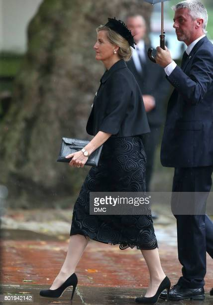Sophie Countess of Wessex attends the funeral of The Countess Mountbatten of Burma at St Paul's Church on June 27 2017 in London England