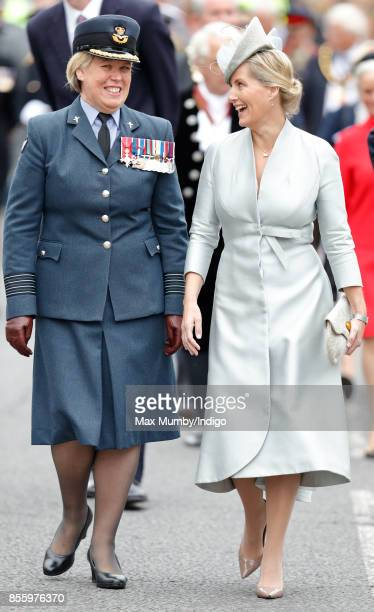Sophie Countess of Wessex attends the Headley Court Farewell Parade on September 29 2017 in Dorking England A service of thanksgiving at St Martin's...