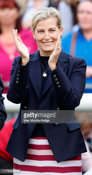 Sophie Countess of Wessex attends The Land Rover Burghley Horse Trials at Burghley House on September 8 2019 in Stamford England