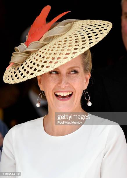 Sophie Countess of Wessex attends the Order of the Garter service at St George's Chapel on June 17 2019 in Windsor England The Most Noble Order of...