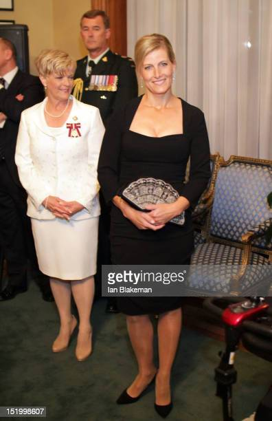 Sophie Countess of Wessex attends the presentation of the Queen's Diamond Jubilee Medals during the 2012 Toronto International Film Festival at...