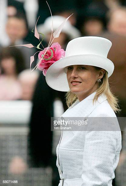 Sophie Countess of Wessex attends the second day of Royal Ascot 2005 at York Racecourse on June 15, 2005 in York, England. One of the highlights of...
