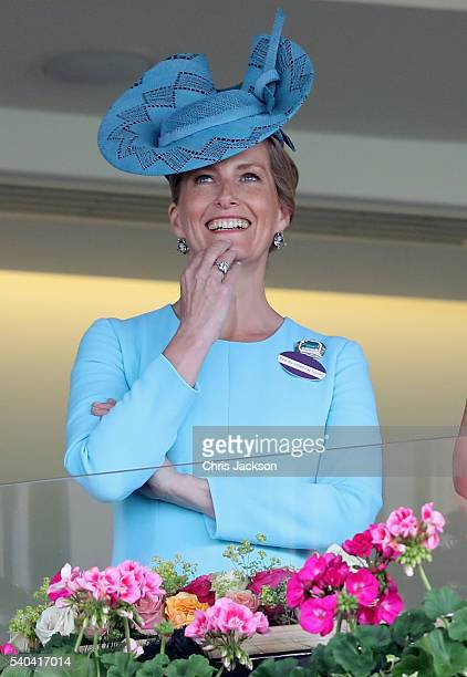 Sophie Countess of Wessex attends the second day of Royal Ascot at Ascot Racecourse on June 15 2016 in Ascot England