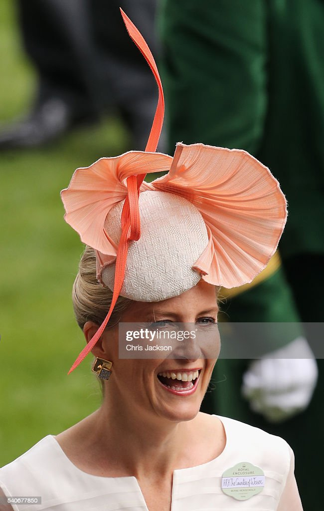 Sophie, Countess of Wessex attends the third day of Royal Ascot at Ascot Racecourse on June 15, 2016 in Ascot, England.
