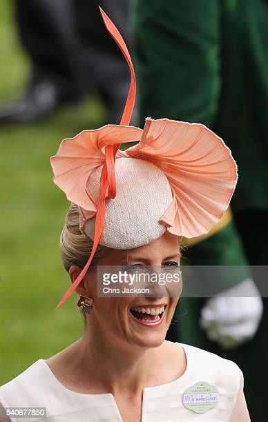 Sophie Countess of Wessex attends the third day of Royal Ascot at Ascot Racecourse on June 15 2016 in Ascot England