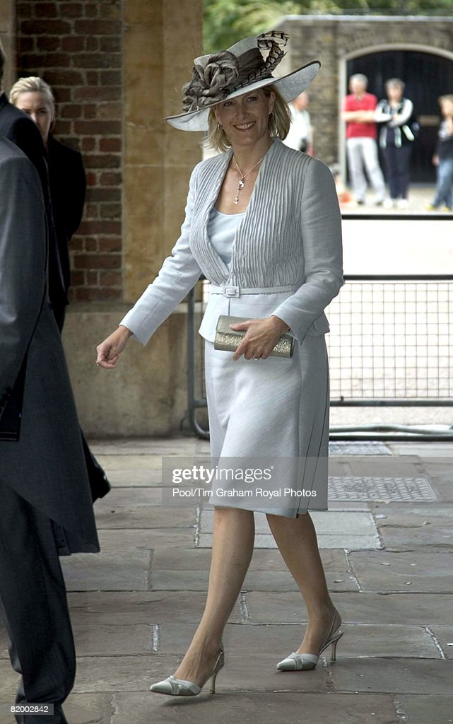 Sophie Countess of Wessex attends the wedding of Lady Rose Windsor and George Gilman at the Queen's Chapel near St James's Palace on July 19, 2008 in London, England.