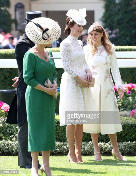 Sophie Countess of Wessex Catherine Duchess of Cambridge and Princess Beatrice of York attend Royal Ascot 2017 at Ascot Racecourse on June 20 2017 in...