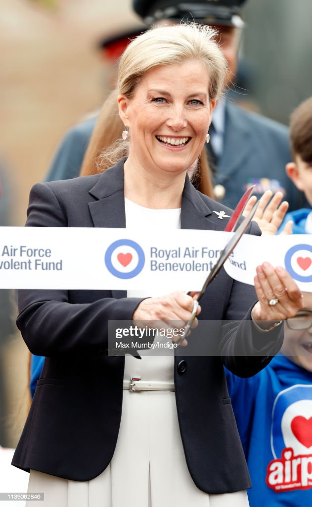 GBR: The Countess Of Wessex Visits RAF Wittering