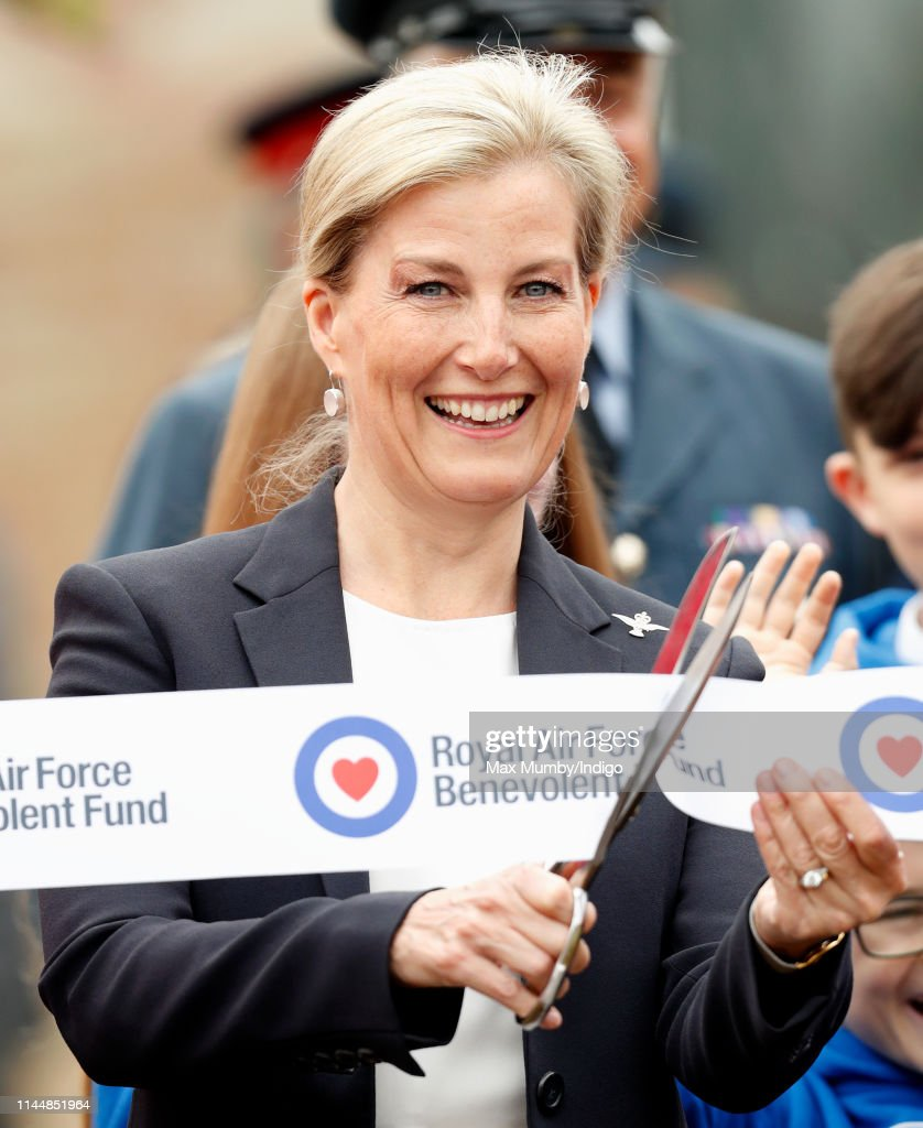 The Countess Of Wessex Visits RAF Wittering : News Photo