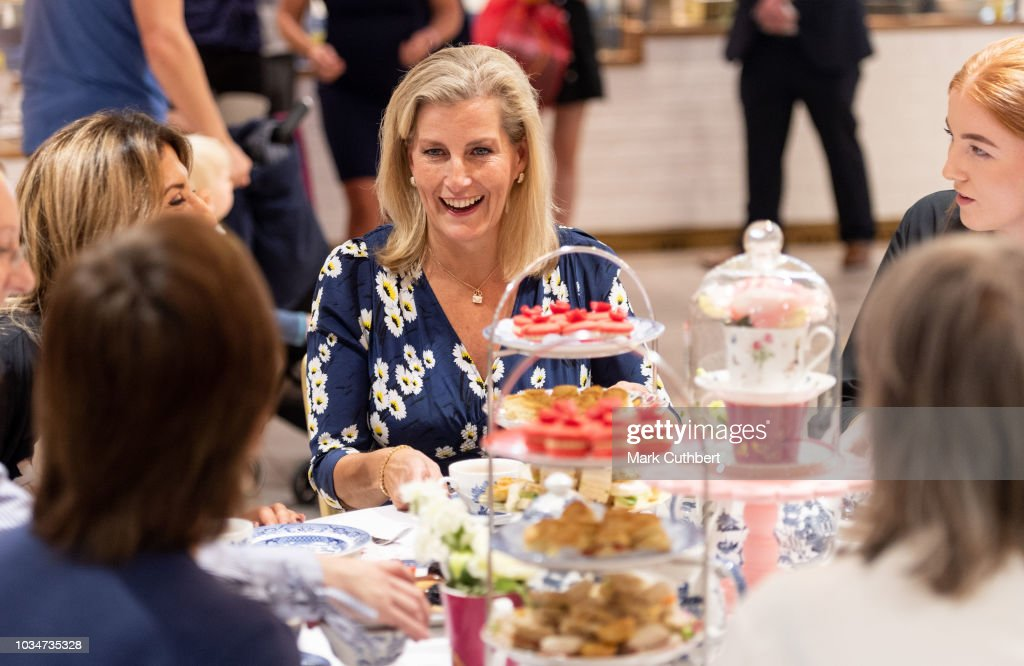 sophie-countess-of-wessex-has-afternoon-tea-with-employees-during-a-picture-id1034735328