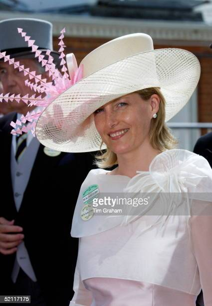 Sophie Countess Of Wessex In Exotic Hat On The Second Day At Royal Ascot Races - The Society Event Of The Year