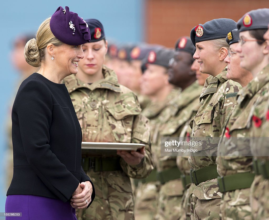 HRH Countess Of Wessex Presents Afghanistan Medals To Aldershot Medics