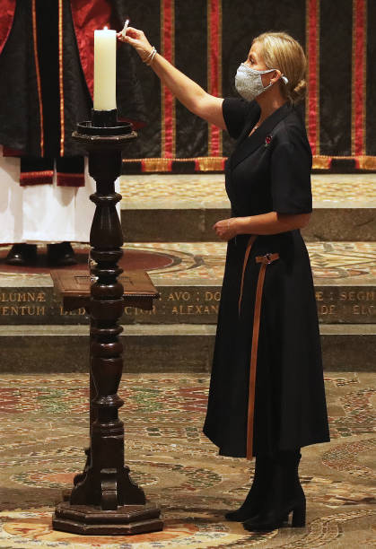 GBR: The Countess Of Wessex's Attends The All Souls' Day Service At Westminster Abbey