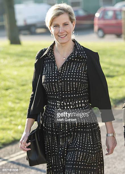 Sophie Countess of Wessex on the occasion of her 52nd birthday attends The Devon County Agricultural Association's AGM as President at Westpoint on...