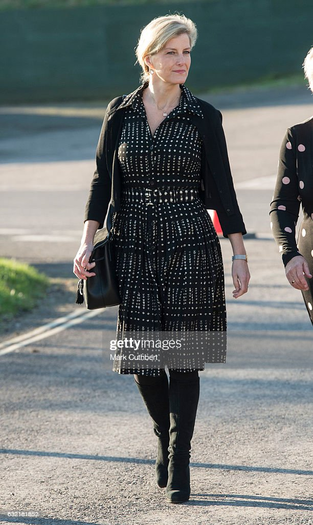 Sophie, Countess of Wessex on the occasion of her 52nd birthday attends The Devon County Agricultural Association's AGM as President at Westpoint on January 20, 2017 in Exeter, England.