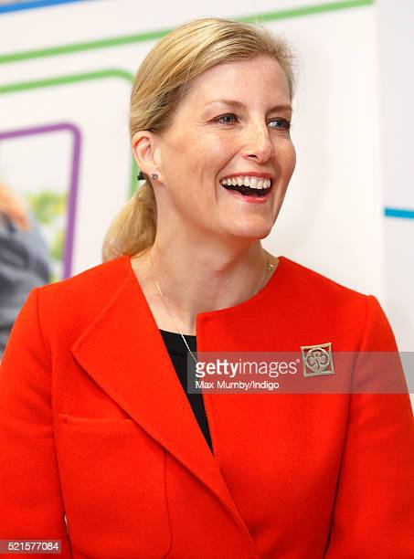 Sophie Countess of Wessex opens the newly refurbished Girlguiding head office on April 16 2016 in London England