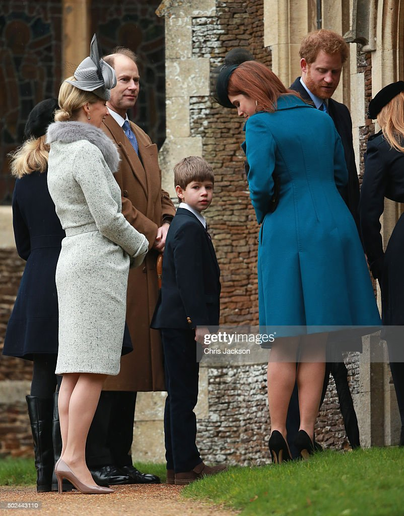 The Royal Family Attend Church On Christmas Day : News Photo