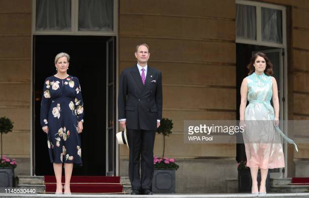 Sophie Countess of Wessex Prince Edward Earl of Wessex and Princess Eugenie of York attend the Duke of Edinburgh Gold Award presentations at...