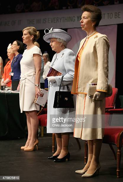 Sophie Countess of Wessex Princess Anne Princess Royal and Queen Elizabeth II attend the Centenary Annual Meeting of The National Federation Of...