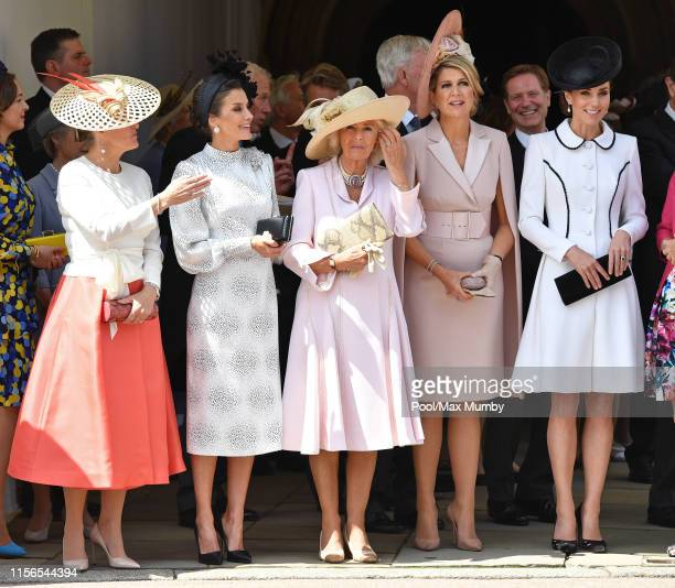 Sophie Countess of Wessex Queen Letizia of Spain Camilla Duchess of Cornwall Queen Maxima of the Netherlands and Catherine Duchess of Cambridge...