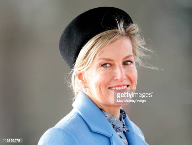 Sophie Countess of Wessex represents Her Majesty The Queen as the Reviewing Officer during The Sovereign's Parade at the Royal Military Academy...