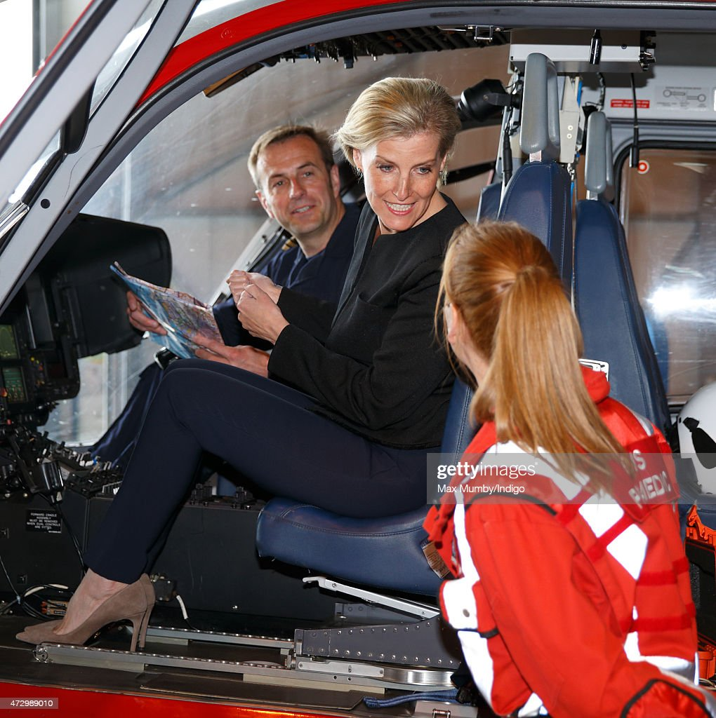 The Countess Of Wessex Opens New Air Operating Base At Thames Valley Air : News Photo