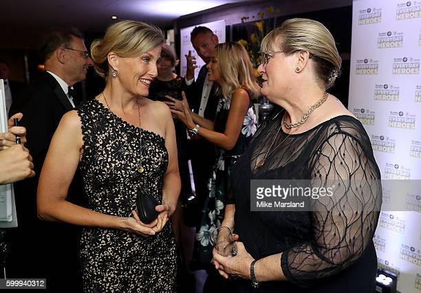 Sophie Countess of Wessex talks to Beth Chesney Evans at the St John Ambulance's Everyday Heroes awards a starstudded celebration of the nation's...