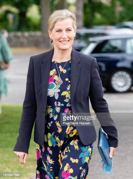 Sophie, Countess of Wessex visits Forfar Golf Club to mark the 150th anniversary of the club on June 28, 2021 in Forfar, Scotland.