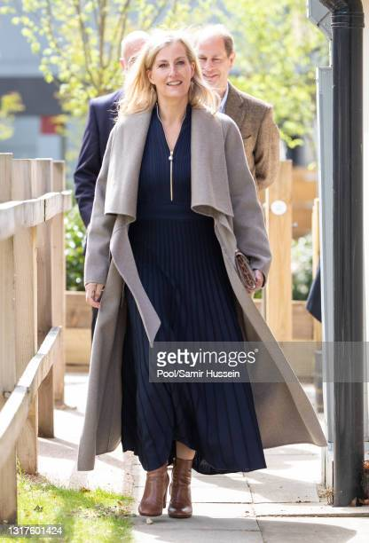 Sophie, Countess of Wessex visits Frimley Park Hospital on International Nurses Day on May 12, 2021 in Camberley, England.