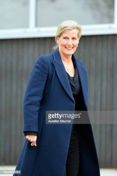 Sophie Countess Of Wessex visits INSEP on October 2 2018 in Paris France Prince Edward Earl Of Wessex and Sophie Countess Of Wessex are on a three...