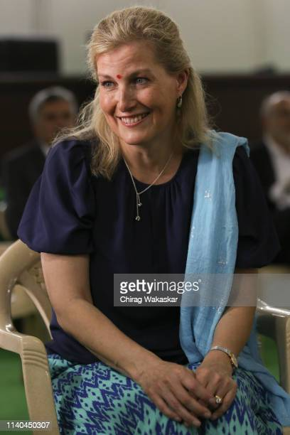 Sophie Countess of Wessex visits Sir Elly Kadoorie School on May 1 2019 in Mumbai India The Countess is on a weeklong tour of India to support the...