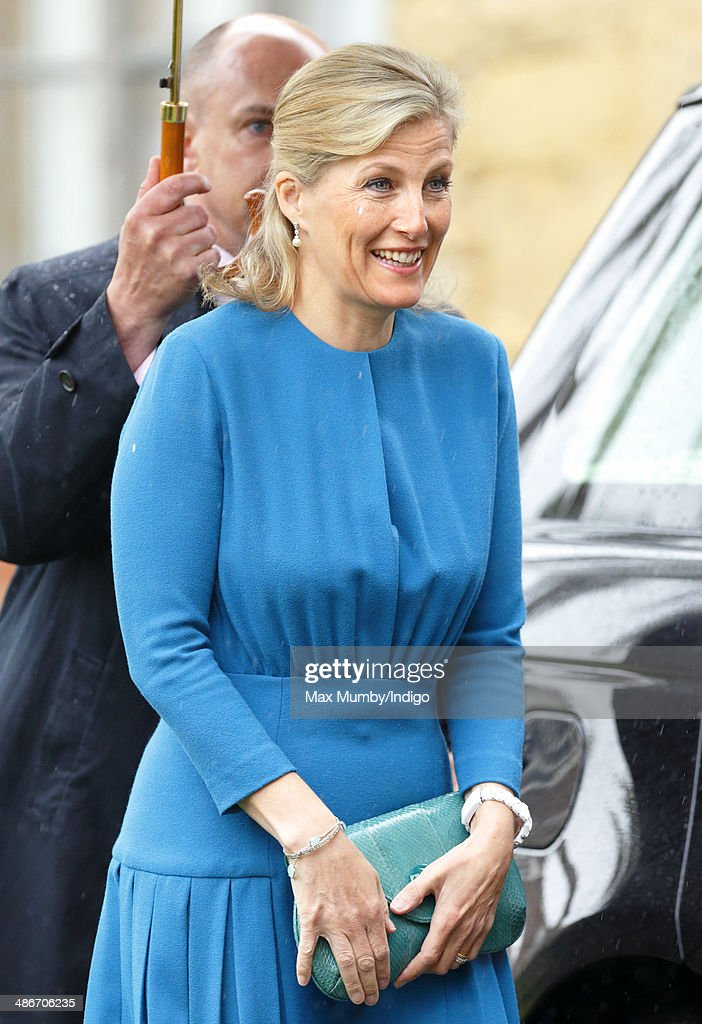 Sophie, Countess of Wessex visits the Abbey Church of St Peter and St Paul (Dorchester Abbey) as she and Prince Edward, Earl of Wessex undertake a day of engagements in Oxfordshire on April 25, 2014 in Dorchester-on-Thames, England.