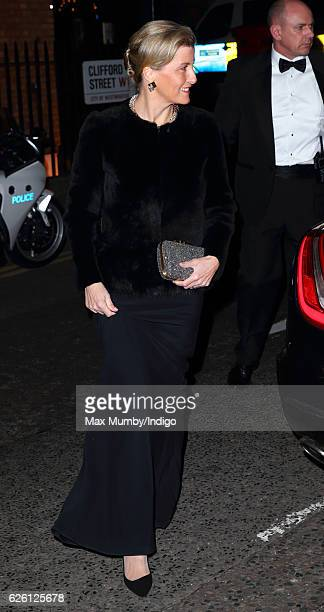 Sophie Countess of Wessex visits the Exhibition of Opals by John Adie at Buck's Club on November 24 2016 in London England