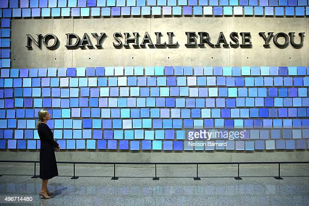 Sophie Countess of Wessex visits The National September 11th Memorial Museum on November 11 2015 in New York City