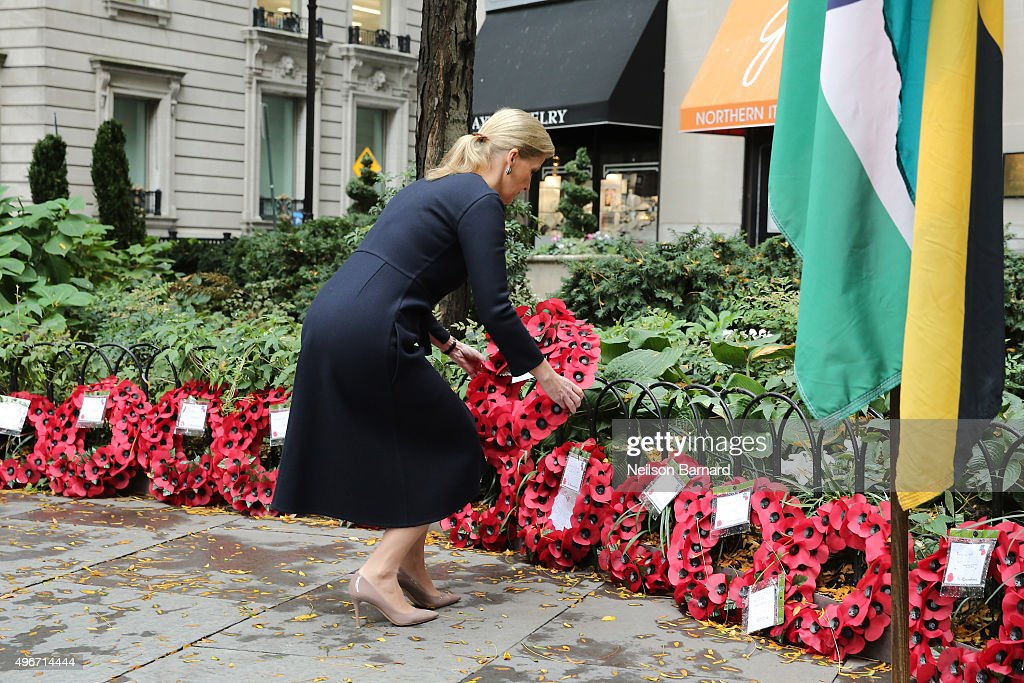 Countess Of Wessex Visits The 9/11 Memorial : News Photo