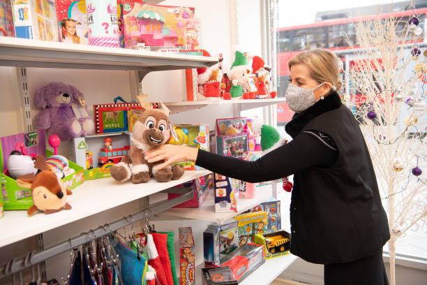 GBR: The Countess Of Wessex's Visits The Shooting Star Children's Hospices Charity Shop In Hampton